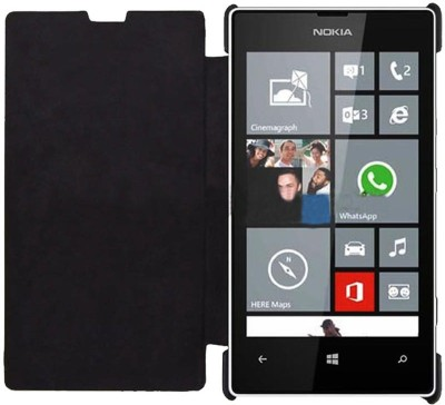 Iway Flip Cover for Nokia Lumia 520 Black Iway Plain Cases   Covers