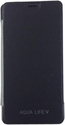 Sun Mobisys Flip Cover for Intex Aqua Life V(Black, Plastic) Flipkart