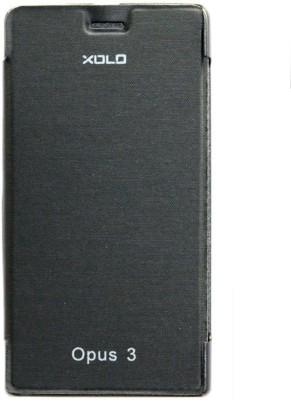 Sun Tigers Flip Cover for XOLO Opus 3(Black, Plastic)