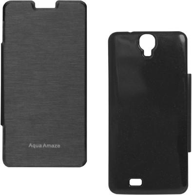 Sun Tigers Flip Cover for Intex Aqua Amaze(Black, Plastic) Flipkart