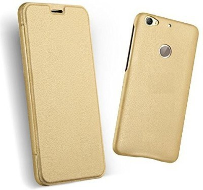 dwors Flip Cover for LeEco Le 1S Gold dwors Plain Cases   Covers