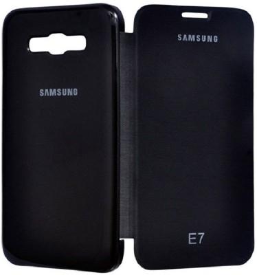 Coverage Flip Cover for SAMSUNG Galaxy E7 Black
