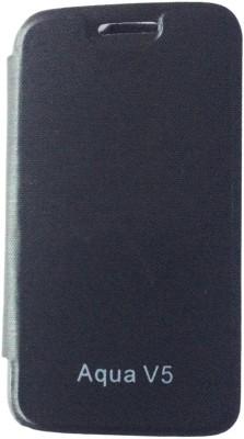 Sun Mobisys Flip Cover for Intex Aqua V5(Black, Plastic) Flipkart