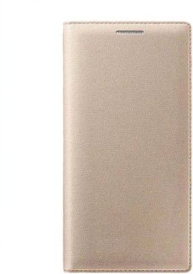 COVERNEW Flip Cover for SAMSUNG Galaxy On8 Gold COVERNEW Plain Cases   Covers