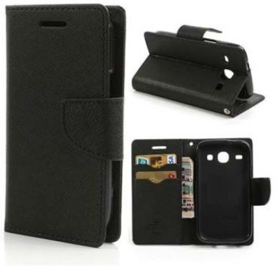 Trap Flip Cover for Samsung Galaxy On7(Black)