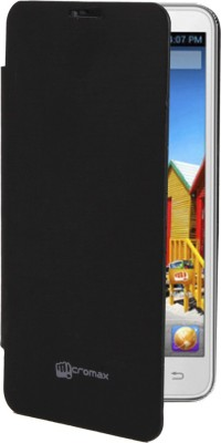 COVERNEW Flip Cover for Micromax Bolt Q324 Black