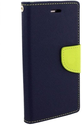 YuniKase Flip Cover for Gionee S6S(Blue, Cloth, Rubber, Plastic)