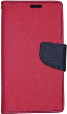 Tingtong Flip Cover for Mi Redmi Note(Pink, Blue, Artificial Leather)
