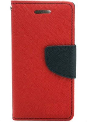 LOOPEE Flip Cover for Samsung Galaxy Grand Prime Red