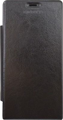 Coverage Flip Cover for Karbonn A7 Star(Black)