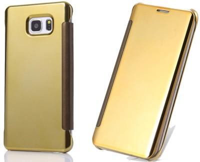 iNera Flip Cover for Samsung Galaxy S7 Edge Golden