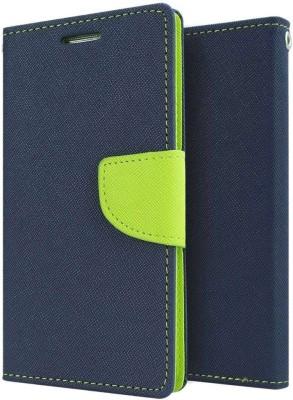 AmericHome Flip Cover for Mi Redmi 2 Prime Blue