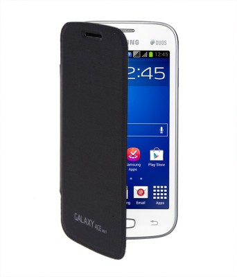 RDcase Flip Cover for Samsung Galaxy Ace Nxt SM G313H Black