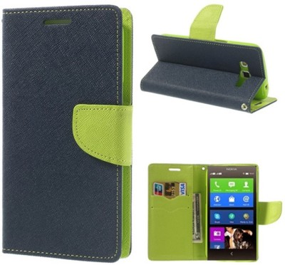 Coverage Flip Cover for Yu Yureka Note(Blue, Green, Artificial Leather, Rubber)