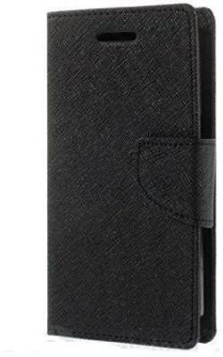 Vinnx Flip Cover for Sony Experia C3 Black Vinnx Plain Cases   Covers