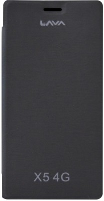 COVERNEW Flip Cover for Lava Iris X5 4G(Black, Artificial Leather, Rubber)