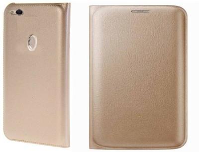 Foneys Flip Cover for Mi Redmi 3S Prime Gold