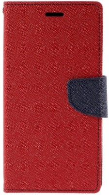 KartV Flip Cover for Micromax Canvas 2 Colors A120(Red, Cloth, Rubber)