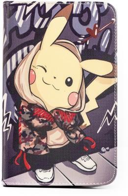 Mystry Box Flip Cover for Samsung Galaxy Tab 3 P3200 7inch(Grey Pikachu)