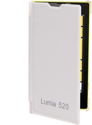 RDcase Flip Cover for Nokia Lumia 520 White RDcase Plain Cases   Covers