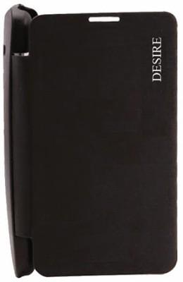 Easy2Sync Flip Cover for HTC Desire 210(Black)