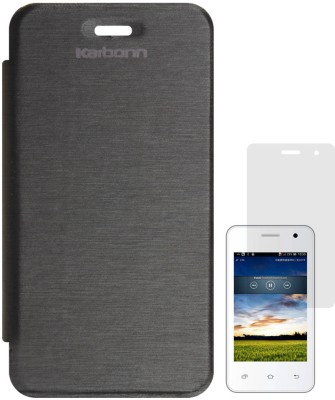 DMG Flip Cover for Karbonn A51(Black)