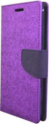 COVERNEW Flip Cover for Lenovo K6 Power Purple COVERNEW Plain Cases   Covers