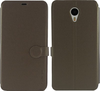 Cool Mango Flip Cover for Meizu M1 Note(Uber Bronze, Artificial Leather)