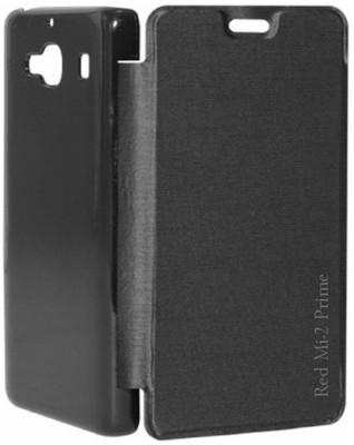 COVERNEW Flip Cover for Mi Redmi 2 Prime Black COVERNEW Plain Cases   Covers