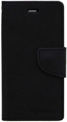 Mejor Flip Cover for Micromax Canvas A110(Black, Plastic)