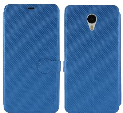 Cool Mango Flip Cover for Meizu M1 Note(Royal Blue, Artificial Leather)