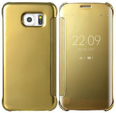 Mob Covers Flip Cover for Samsung Galaxy S6 Edge Gold