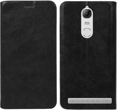 Unistuff Flip Cover for Lenovo Vibe K5 Note(Black)