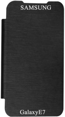 RDcase Flip Cover for SAMSUNG Galaxy E7 Black RDcase Plain Cases   Covers