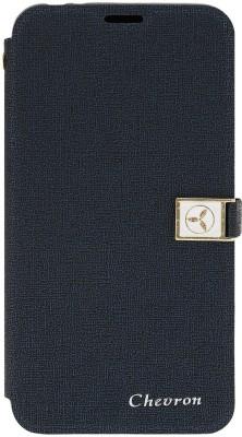 Chevron Flip Cover for Motorola Moto G Turbo Edition(Royal Blue, Artificial Leather)