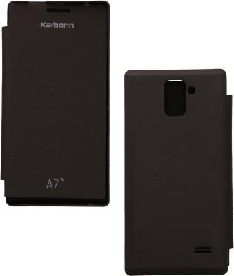 Iway Flip Cover for Karbonn A7 Star(Black)