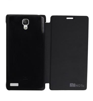 COVERNEW Flip Cover for Mi Redmi Note Prime Black COVERNEW Plain Cases   Covers