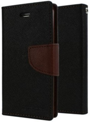 Mejor Flip Cover for Micromax Canvas A110(Brown, Plastic)
