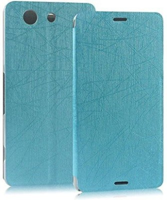Heartly Flip Cover for Sony Xperia E3 and E3 Dual Sim D2203(Blue, Artificial Leather)