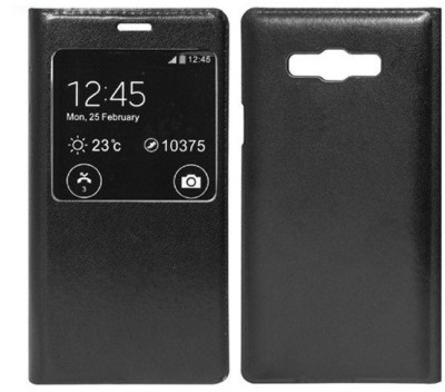 Spicesun Flip Cover for Samsung Galaxy On7 SM G600F Black Spicesun Plain Cases   Covers