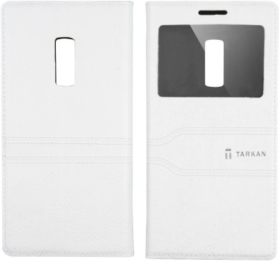 Tarkan Flip Cover for OnePlus 2 White Tarkan Plain Cases   Covers