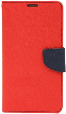 Gmk Martin Flip Cover for Micromax Canvas 2 Colours A120(RED, Artificial Leather)
