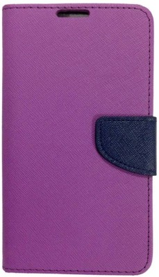 Novo Style Flip Cover for Yu Yureka Plus(Purple, Artificial Leather)