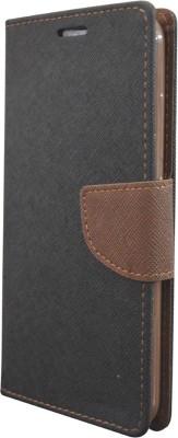COVERNEW Flip Cover for Lenovo Vibe K5 Note Black COVERNEW Plain Cases   Covers