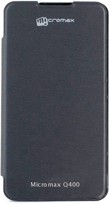 Coverage Flip Cover for Micromax Canvas Blaze 4G Q400(Black)