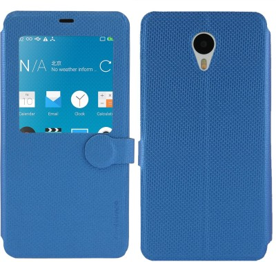 Cool Mango Flip Cover for Meizu M1 Note(Cool Blue, Artificial Leather)