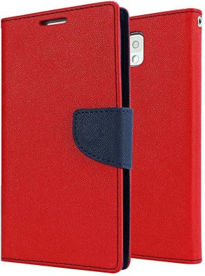 COVERNEW Flip Cover for Yu Yureka Note(Red, Artificial Leather, Rubber)