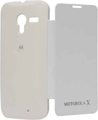 Iway Flip Cover for Motorola Moto X  1st GEN  White Iway Plain Cases   Covers