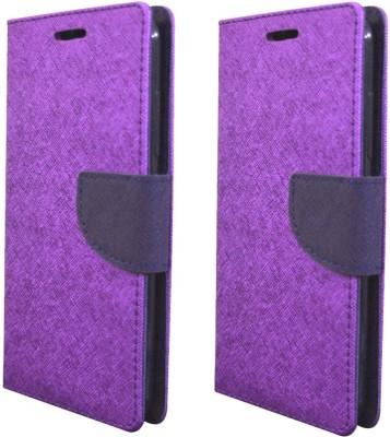 Coverage Flip Cover for Mi Redmi 3S Prime Purple Coverage Plain Cases   Covers