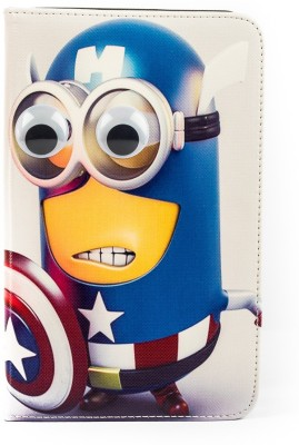 Mystry Box Flip Cover for Samsung Galaxy Tab 3 P3200 7inch(Star Minions)